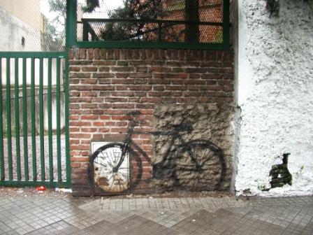 Je trouvfe ça sympa de taguer des bicyclettes