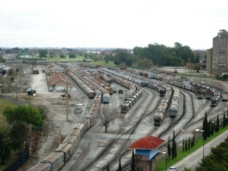 La gare de Rosario vue du musée d\'art moderne