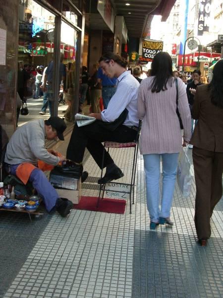Cireur de chaussures - Buenos Aires