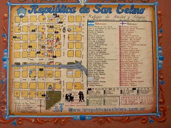 Plan du quartier de San Telmo - Buenos Aires