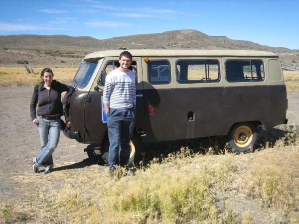 Camionnette de l\'ex-URSS pour nous emmener à Cueva
