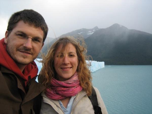 Marion et moi face au glacier