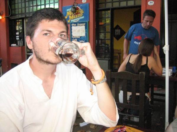 Mode rafale en buvant sa bière