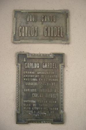 Carlos Gardel a chanté dans ce qui est maintenant le C&A de Cordoba